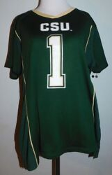 Colorado State Rams Women's Fitted Jersey Xl 16/18 Rivalry Threads 91