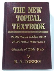 The New Topical Textbook Methods Of Bible Study By R.a. Torrey, Red Hardcover