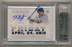 2015 National Treasures Kris Bryant Game Used Patch Auto /10 Bgs 9.5 Pop 1