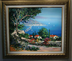 Riviera Memories signed original oil painting by Kerry Hallum (Framed)