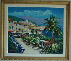 Terrance de Soleil signed original oil painting by Kerry Hallum (Framed)