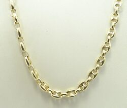 14k Y Gold 4mm Puffy Mariner Anchor Link Chain Necklace 20.5 28g D6584