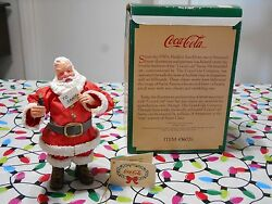 Coca Cola Santa Figurine With Letter And Coke Bottle 1989 Willitts Galeries Fabric