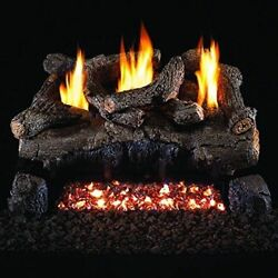 Peterson Real Fyre 24-inch Evening Fyre Log Set With Vent-free Ng/ Lp