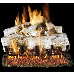 Peterson Real Fyre 30-inch Mountain Birch Log Set With Vented Ng/lp Realistic