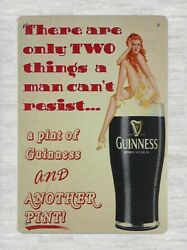 Old Signs For Sale Pint Of Guinness Pin-up Sexy Girl Tin Metal Sign