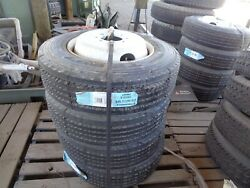 Triangle 215/75r17.5 Set 4 Radial Trailer Tires And Wheels 8-6.5 Hub Pilot