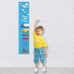 Personalised Height Fabric Growth Chart Planes Trucks Design Add image and DOB..