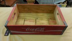 Vintage Coca Cola Red Crate Coke Wood Box ---red Wing Minn.