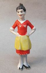 Emmy 1930and039s Moon Mullins Comic Strip Character German Nodder Bisque Figure 3.75