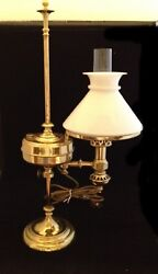 The Downer Mineral Sperm Oil Study Lamp C-1870 Student Lamp Scarce
