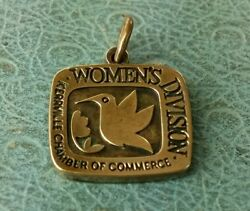 James Avery Retired Women's Division Charm Bronze Mint Condition Uncut