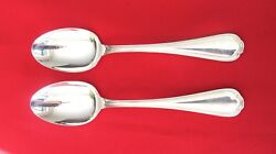Spoon Christofle Flatware Sterling Silver Set Of 2 Spoons 7 1/2 L 1101