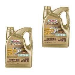 2 Motor Oil Castrol Edge 5w-30 Fully Synthetic 10 Quarts For Bmw Longlife Ll 04