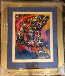 LEROY NEIMAN ORIGINAL SERIGRAPH INDY 500 START INDY START Will reframe for you
