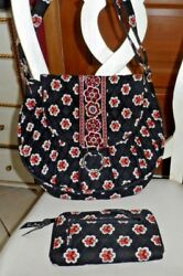 Vera Bradley Saddle Up Bag And Zip Around Wallet In Pirouette