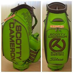 Scotty Cameron Lime CT Staff Bag Circle T Studio Design Titleist Stand Tour New $4,995.00