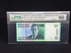 2009 Indonesia, 20000 Rupiah P-144f Replacement/star Solid 888888