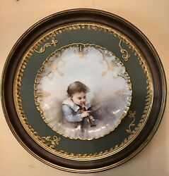 Antique French Charles Haviland Hand Painted Porcelain Plate Artist F. Bischoff