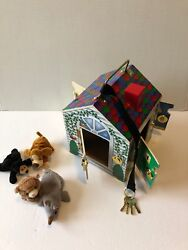 Melissa And Doug Wooden Doorbell House W/ Keys Used Small Pets