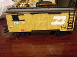 New Bright 1986 Brown Western R.r Lines Train Freight Car G Scale Open Door