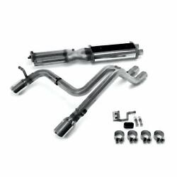 Stainless Performance Exhaust Cat Back 03-06 Hummer H2 split rear
