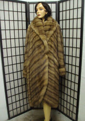 BRAND NEW CANADIAN SABLE FUR COAT JACKET WOMAN WOMEN SIZE ALL