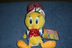 Warner Brothers Looney Tunes Tweety Bird Patriot 9-inch Bean Bag Plush New