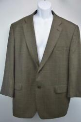 2 Button Fully Lined Blazer Sportcoat Brown Houndstooth Mens 46r
