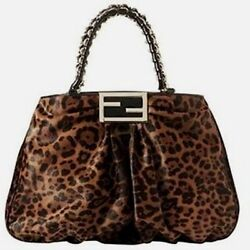 Beautiful Designer FENDI Mia Fur Shoulder Bag New