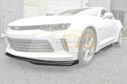 T6 Style Carbon Fiber Front Lip W/ Sid End Caps And Side Skirt For 16-18 Camaro Rs