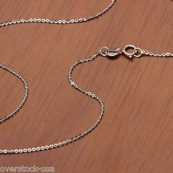 J.lee 17.5inch Solid 18k White Gold Necklace O Link Chain Necklace 1.43g Au750