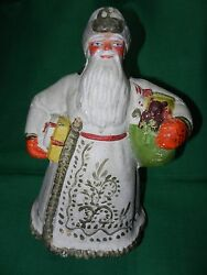 Russian Old Soviet Doll Vintage Toy Christmas New Year Santa Claus 1950 Ded
