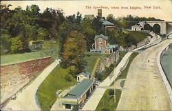 Rare Postcard New York City The Speedway Taken From Heights 1909 Cancel