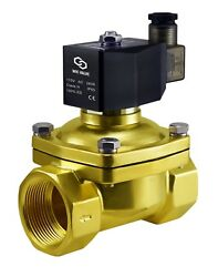1.25 Inch Brass Electric Air Water Diaphragm Solenoid Process Valve Nc 110v Ac