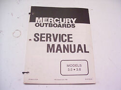 Service Manual For Mercury Outboard Motors 3.5 And 3.6 Hp