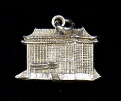 Vintage The Grand Hotel Taipei Taiwan Sterling Silver Charm 925 Very Detailed