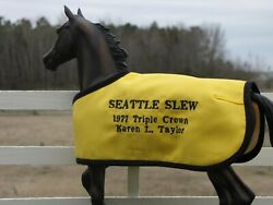 SEATTLE SLEW Triple Crown embroidered blanket Breyer thoroughbred race horse