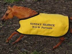 SUNDAY SILENCE embroidered blanket Breyer thoroughbred race horse
