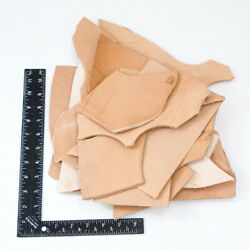 2 Pounds Veg Tan Scrap Mixed Weight Cowhide Tooling Leather Remnants $16.99