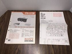 Sony Vph-670w Color Video Projector Service Manual With Schematics Fph-670w