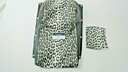 Vintage Arctic Cat Kitty Cat LEOPARD REPRODUCTION SEAT Cover amp; Handle Bar Cover