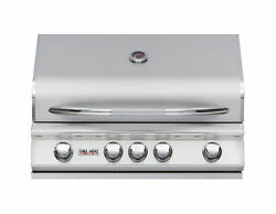 Delsol 32andprime Outdoor Built In Gas Grill With Infrared Rotisserie Burner And Free