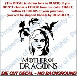 Got Mother Of Dragons 1 Vinyl Decal For Wall Window Car Laptop Game Of Thrones