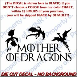 Got Mother Of Dragons 2 Vinyl Decal For Wall Window Car Laptop Game Of Thrones