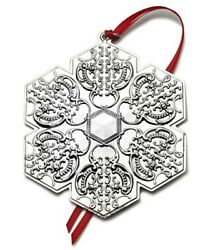 2010 Wallace Snowflake Sterling Silver Christmas Ornament 13th Edition