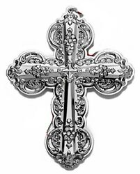 2010 Wallace Grande Baroque Cross Sterling Christmas Ornament 15th Edition