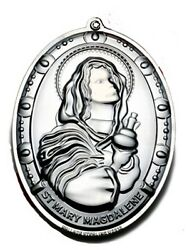 Wallace Saint Mary Magdalene Sterling Silver Christmas Ornament