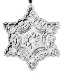 2001 Wallace Snowflake Sterling Silver Christmas Ornament 4th Edition