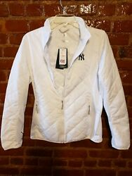 Ny Yankees Ladies Sandpoint Quilted Jacket. Cutter And Buck. Brand New With Tags